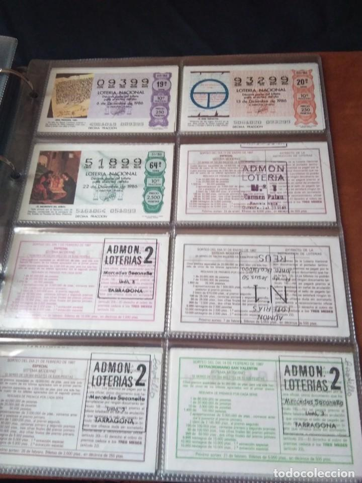 Lotería Nacional: LOTERIA NACIONAL AÑO 1986 COMPLETO, 50 DECIMOS - Foto 14 - 132741482
