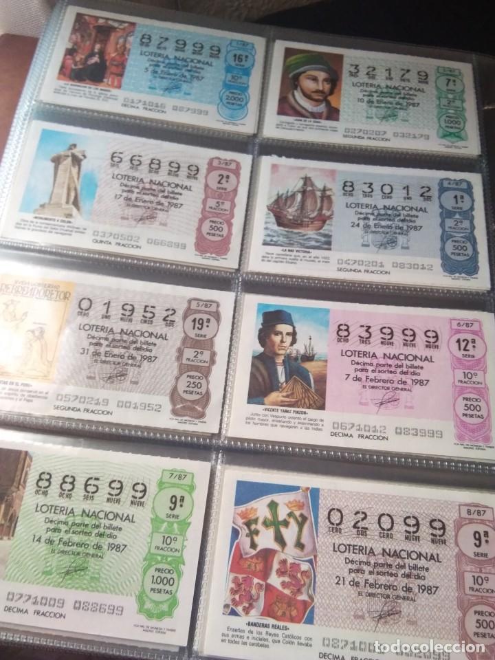 LOTERIA NACIONAL AÑO 1987 COMPLETO, 51 DECIMOS (Coleccionismo - Lotería Nacional)