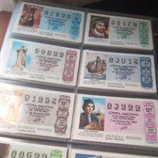 Lotería Nacional: LOTERIA NACIONAL AÑO 1987 COMPLETO, 51 DECIMOS. Lote 132741546