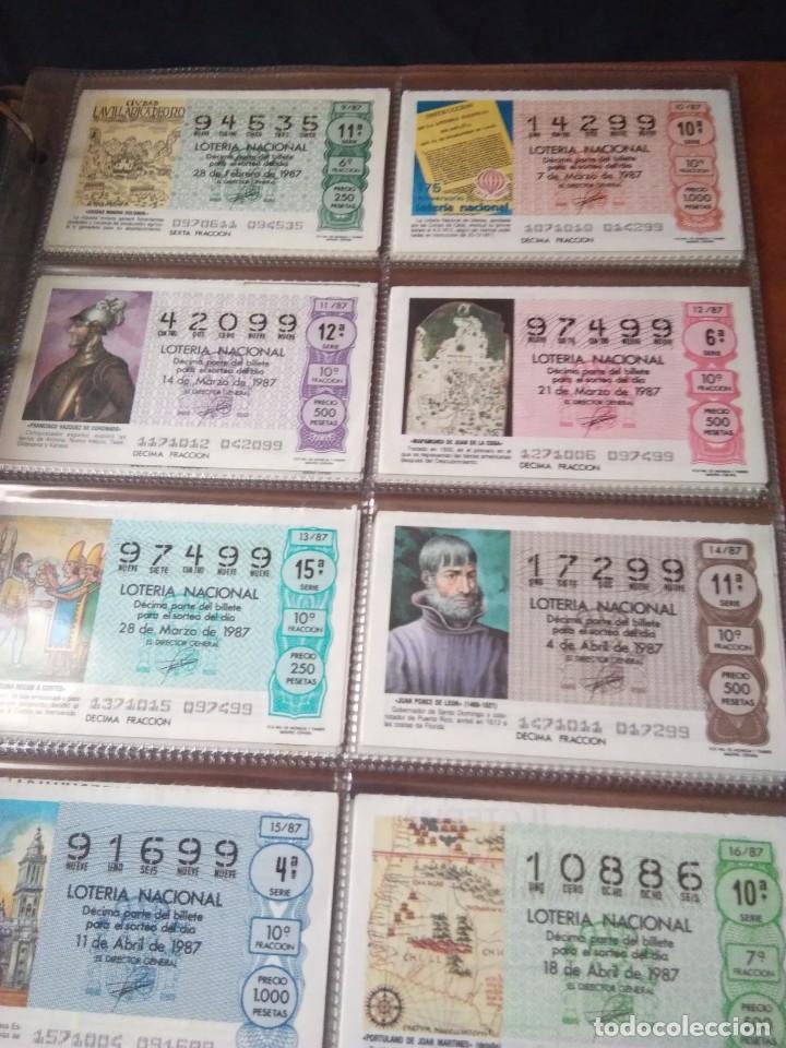 Lotería Nacional: LOTERIA NACIONAL AÑO 1987 COMPLETO, 51 DECIMOS - Foto 2 - 132741546