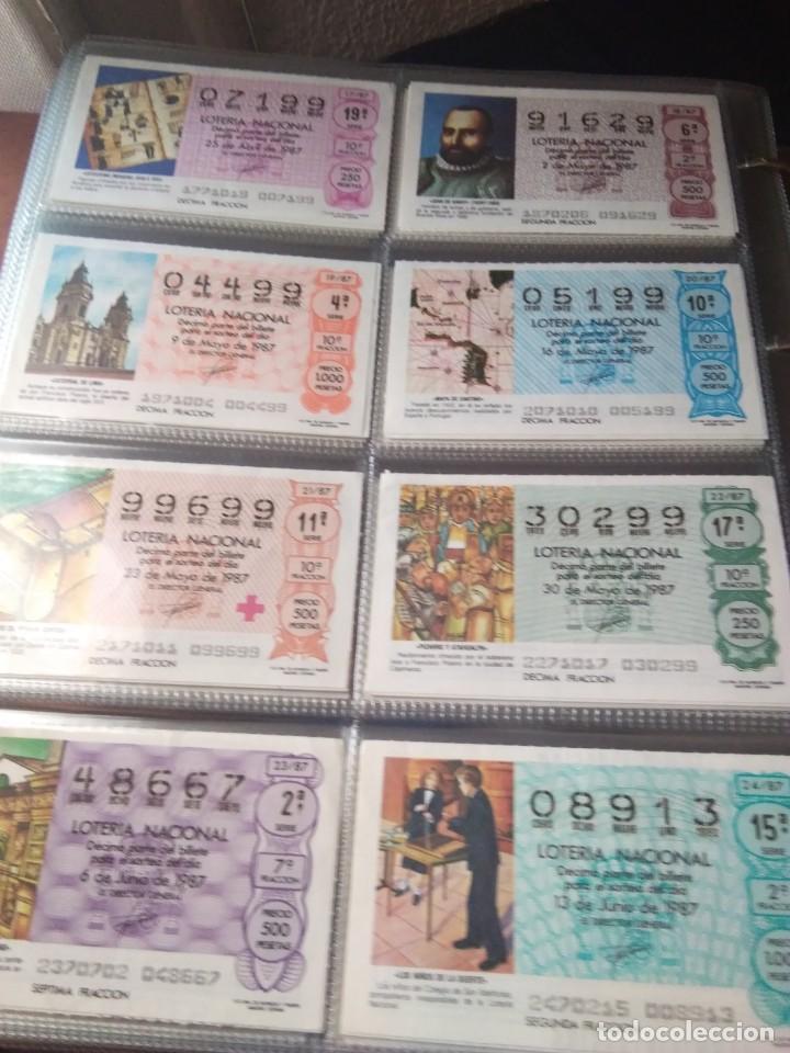 Lotería Nacional: LOTERIA NACIONAL AÑO 1987 COMPLETO, 51 DECIMOS - Foto 3 - 132741546