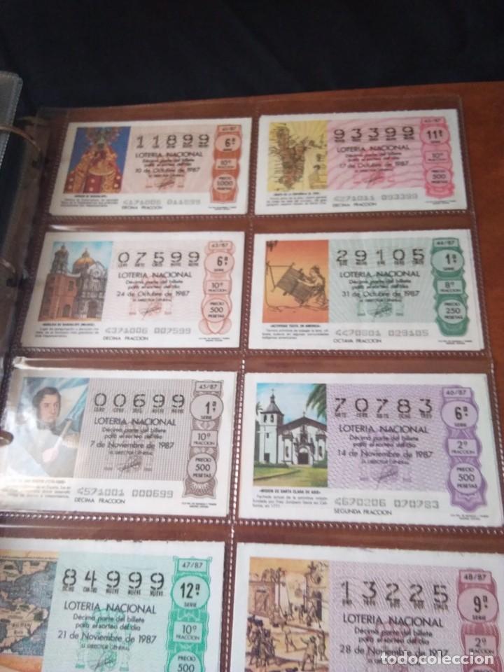 Lotería Nacional: LOTERIA NACIONAL AÑO 1987 COMPLETO, 51 DECIMOS - Foto 6 - 132741546