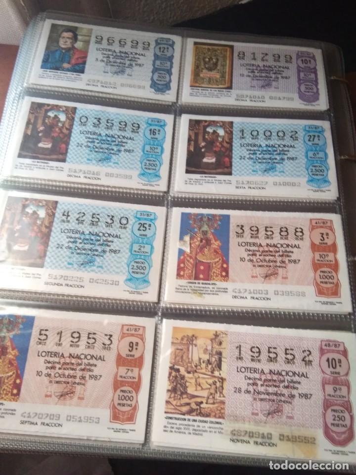 Lotería Nacional: LOTERIA NACIONAL AÑO 1987 COMPLETO, 51 DECIMOS - Foto 7 - 132741546