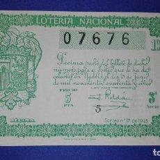 Lotería Nacional: DECIMO DE 1945 SORTEO 17. Lote 133138890