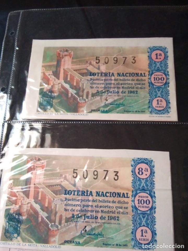 DOS DÉCIMOS DE LOTERIA NACIONAL 1962 (Coleccionismo - Lotería Nacional)