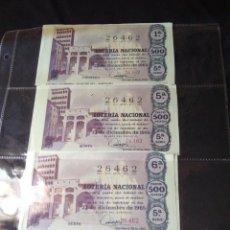 Lotería Nacional: CUATRO DÉCIMOS DE LOTERIA NACIONAL 1965. Lote 133237294