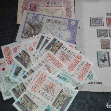 Lotería Nacional: LOTERIA LOTE DE DECIMOS Y SELLOS DE CHINA. Lote 134209178