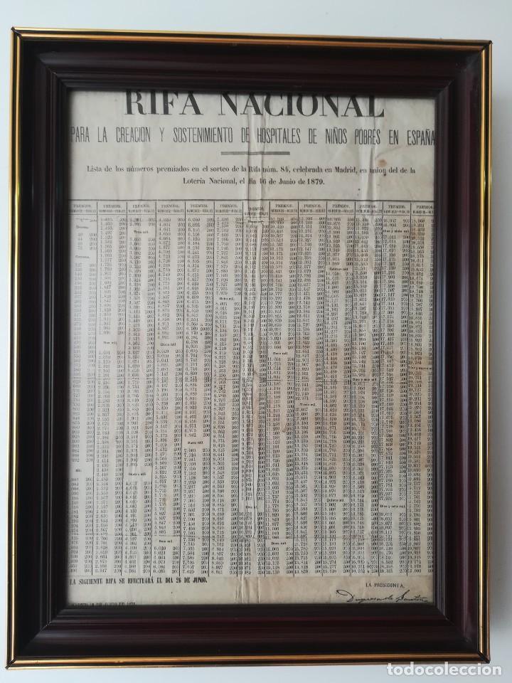 Hoja Periódico Unica Año 1879 Lotería Nacional Kaufen Alte