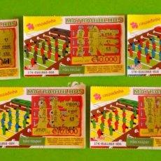 Lotería Nacional: 5 LOTERIAS INSTANTÂNEAS DE PORTUGAL. Lote 135723535