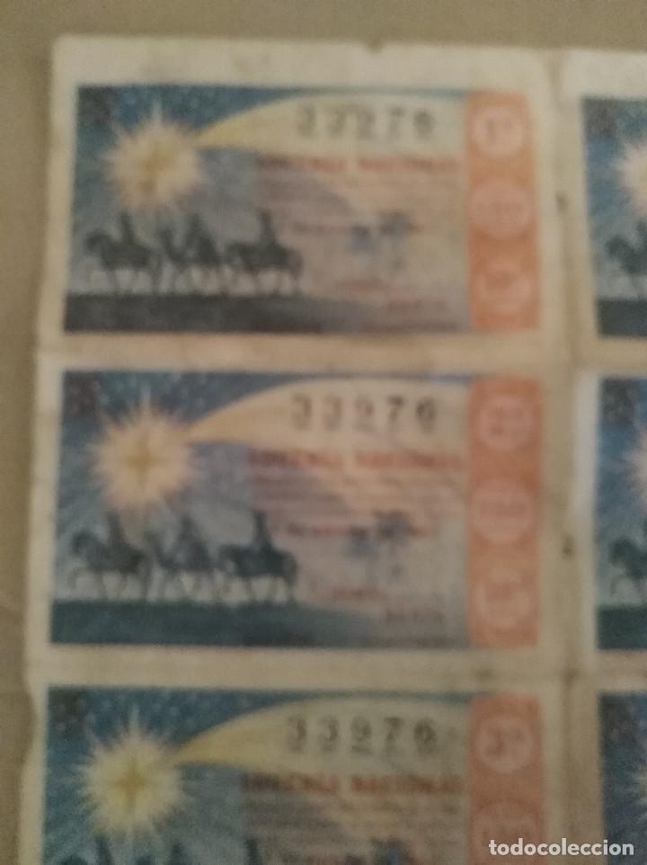 Lotería Nacional: Martos Jaen plancha 8 decimos de loteria reyes 4 de Enero de 1964 leer descripcion - Foto 2 - 135785850