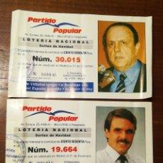 Lotería Nacional: LOTERIA. PARTICIPACIONES. PARTIDO POULAR. BADALONA1991. Lote 137144814