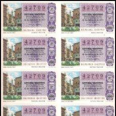 Lotería Nacional: AÑO 1977 PLIEGO DE 10 DECIMOS SORTEO 6 LOTERIA NACIONAL DEL SABADO. Lote 137492654