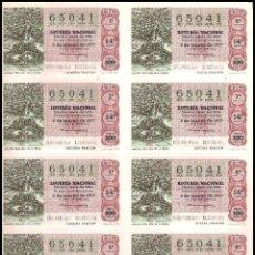 Lotería Nacional: AÑO 1977 PLIEGO DE 10 DECIMOS SORTEO 9 LOTERIA NACIONAL DEL SABADO. Lote 137492950
