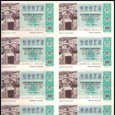 Lotería Nacional: AÑO 1977 PLIEGO DE 10 DECIMOS SORTEO 16 LOTERIA NACIONAL DEL SABADO. Lote 137493966