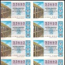 Lotería Nacional: AÑO 1977 PLIEGO DE 10 DECIMOS SORTEO 44 LOTERIA NACIONAL DEL SABADO. Lote 137496462