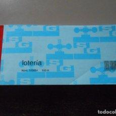 Lotería Nacional: BLOC PARTICIPACIONES LOTERIA NACIONAL. Lote 139297558