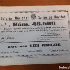 Lotería Nacional: LOTERIA NACIONAL 46560 1971. Lote 139536638
