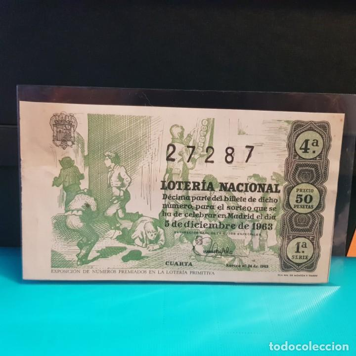 Lotería nacional del año 1963 sorteo 34 - Sold through