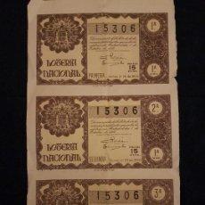 Lotería Nacional: DECIMO LOTERIA NACIONAL 1950 SORTEO 28. Lote 140833570
