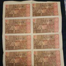 Lotería Nacional: BILLETE 10 DECIMOS LOTERIA NACIONAL SORTEO DE NAVIDAD 1963. Lote 140834222