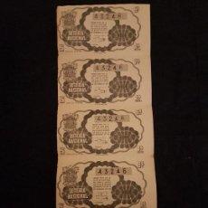 Lotería Nacional: 5 DECIMOS LOTERIA NACIONAL 1945 SORTEO 32. Lote 140834318