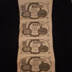 Lotería Nacional: 5 DECIMOS LOTERIA NACIONAL 1945 SORTEO 32. Lote 140834926
