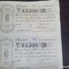 Lotería Nacional: BILLETE LOTERIA NACIONAL 30 DICIEMBRE 1871,ADMINSTRACION SALAMANCA,DOS DECIMOS,N 13.220. Lote 140954098
