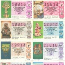 Lotería Nacional: DÉCIMOS DE LOTERÍA DEL AÑO 1984 - SORTEOS 25-30-32-36-40-41-45 Y 49 -. Lote 142410622