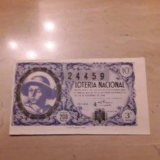 Lotería Nacional: DÉCIMO SORTEO DE NAVIDAD 1948.. Lote 142818109