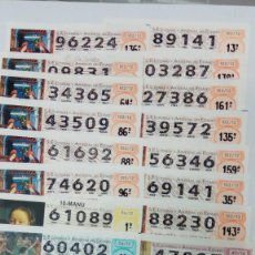 Lotería Nacional: 22 DECIMOS DE LOTERA NACIONAL DEL AÑO 2012. Lote 143012718