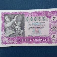 Lotería Nacional: DECIMO DE LOTERIA NACIONAL AÑO 1957 SORTEO Nº 36. Lote 143031982