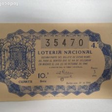 Lotería Nacional: 28 DÉCIMOS DE LOTERÍA DE 1946,1947,1948,1949,1950,1951,1952,1953,1954,1955,1956,1957,1958 Y 1959. Lote 143351514