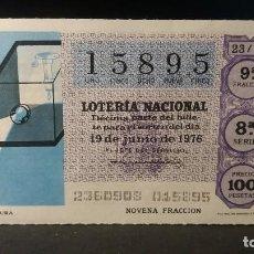 Lotteria Nationale Spagnola: L . NACIONAL 19 JUNIO 1976. SORTEO 23/76. CAMARA OSCURA. Nº 15895.. Lote 144340910