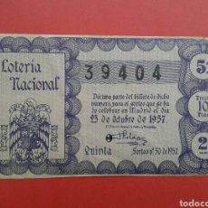 Lotería Nacional: LOTERIA NACIONAL 1957. Lote 145385224