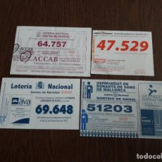 Nationale spanische Lotterie - lote de 4 papeletas participaciones de lotería nacional de navidad año 2013 - 145755766