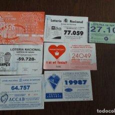 Lotería Nacional: LOTE DE 7 PAPELETAS PARTICIPACIONES DE LOTERÍA NACIONAL DE NAVIDAD AÑO 2015. Lote 145756030