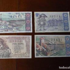Lotería Nacional: BOLETOS DE LOTERIA NACIONAL FACSIMIL AÑOS 50 60 . Lote 146196710