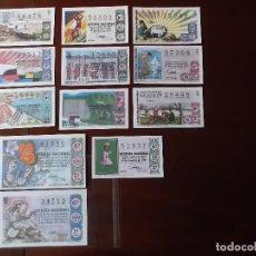 Lotería Nacional: BOLETOS DE LOTERIA NACIONAL FACSIMIL AÑOS 60 70. Lote 146197234