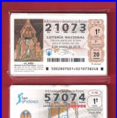 Lotería Nacional: 2 AÑOS COMPLETOS 2018 LOTERIA NACIONAL JUEVES Y SABADOS. Lote 153445404