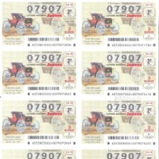 Lotería Nacional: 1 BILLETE LOTERIA JUEVES 5 JULIO 2018 53/18 COCHES ANTIGUOS VEHICULOS ANTIGUOS SCHACHT HIGH WHEELER. Lote 146424714