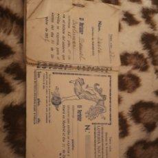 Lotería Nacional: TALONARIO LOTERÍA NACIONAL. NAVIDAD. AÑOS 30, 1935. VALENCIA. Lote 146692676