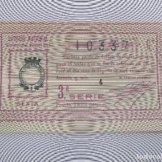 Lotería Nacional: DECIMA DECIMO LOTERIA NACIONAL SORTEO 22 DE 1936 1 DE AGOSTO DE 1936 GUERRA CIVIL. Lote 147301482