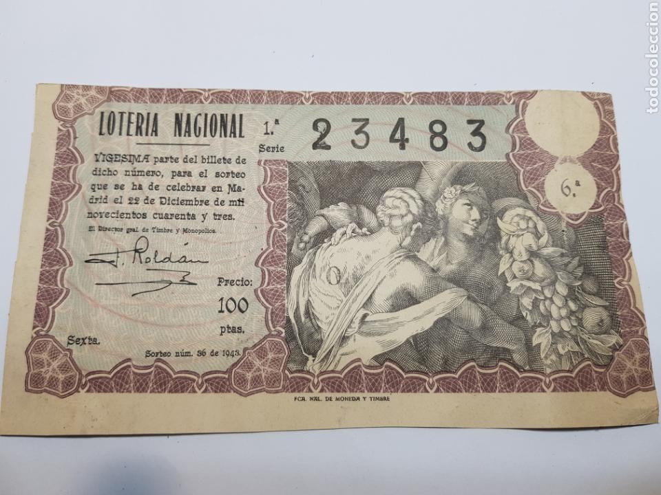 LOTERÍA NACIONAL DE NAVIDAD DEL AÑO 1943 (Coleccionismo - Lotería Nacional)