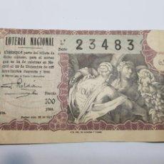 Lotería Nacional: LOTERÍA NACIONAL DE NAVIDAD DEL AÑO 1943. Lote 147379097