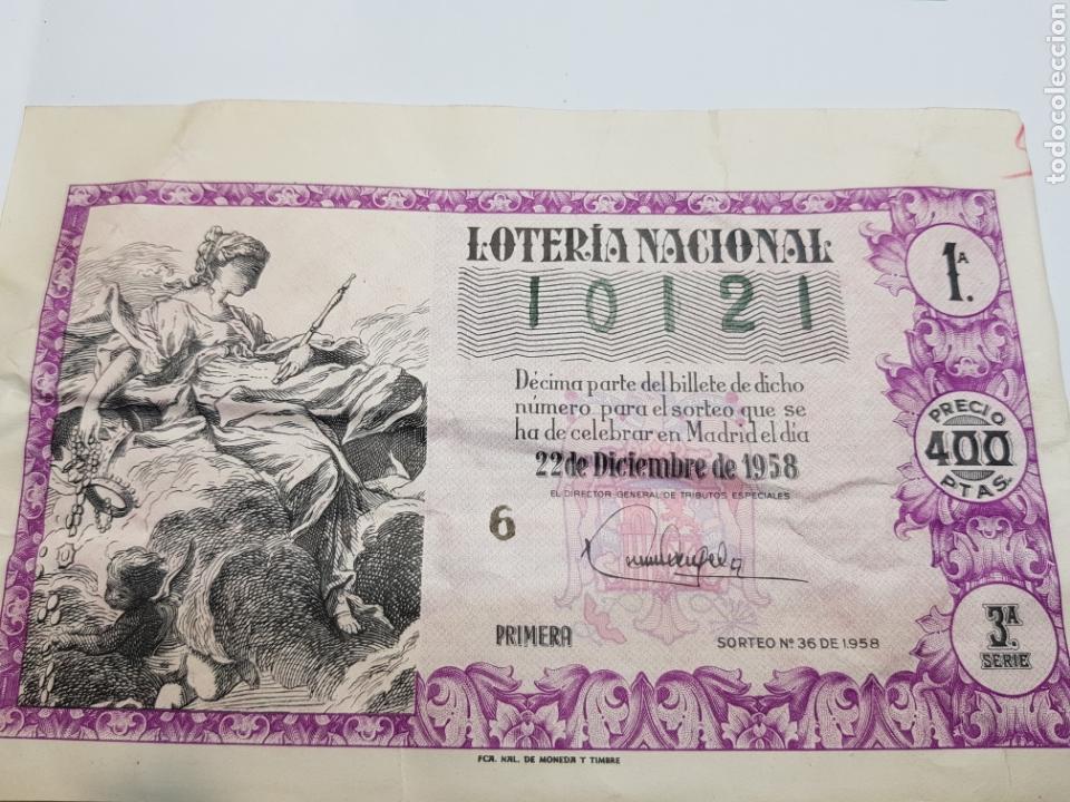 LOTERÍA NACIONAL DE NAVIDAD DEL AÑO 1958 (Coleccionismo - Lotería Nacional)