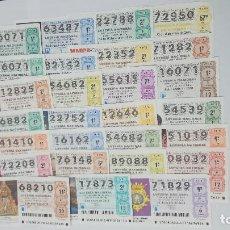 Lotería Nacional: 33 DECIMOS DIFERENTES DE LOTERIA NACIONAL DEL AÑO 2018. Lote 147635230