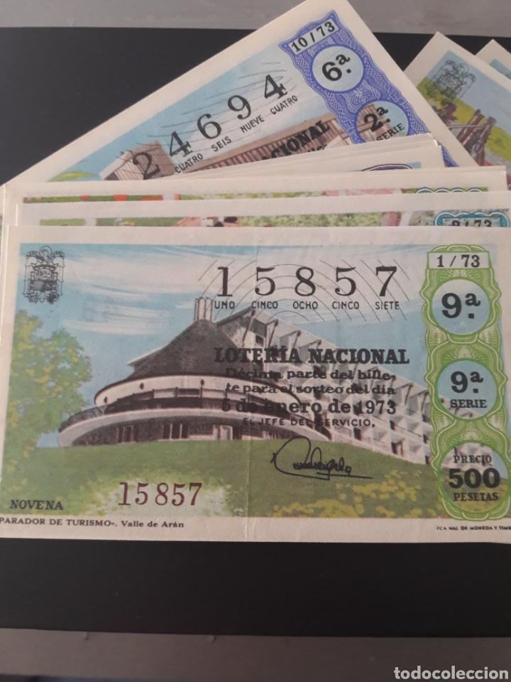 LOTERÍA NACIONAL AÑO 1973 40 DÉCIMOS DE LOS SABADOS (Coleccionismo - Lotería Nacional)