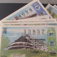 Lotería Nacional: LOTERÍA NACIONAL AÑO 1973 40 DÉCIMOS DE LOS SABADOS. Lote 148283592