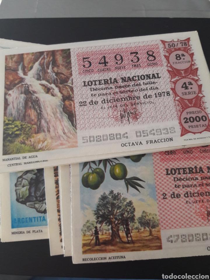LOTERÍA NACIONAL AÑO 1978 LOS RECURSOS NATURALES (Coleccionismo - Lotería Nacional)