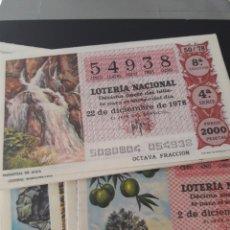 Lotería Nacional: LOTERÍA NACIONAL AÑO 1978 LOS RECURSOS NATURALES. Lote 148284648